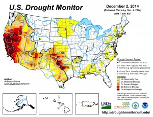 Map courtesy The National Drought Mitigation Center (droughtmonitor.unl.edu)