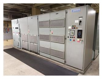 A picture of a control unit for a variable frequency drive at LCA.