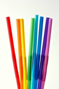 A picture of plastic drinking straws, to illustrate a post about National Skip the Straw Day.